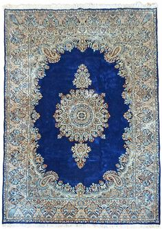 6 7 X 9 10 Navy Blue Kerman Persian Rugs