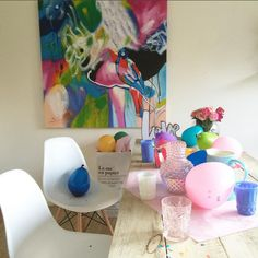 'The Effervescent' in all its colourful glory in the office space of @nectarandstone  https://www.unitedartworks.net/artwork/hand-painted/paintings/artwork/paint-gallery/vivid-brights/artwork/paintings/bird/the-effervescent-original-art