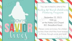 2015 Primary Program Invitations & Save the Date Cards. Free printable at Little LDS Ideas