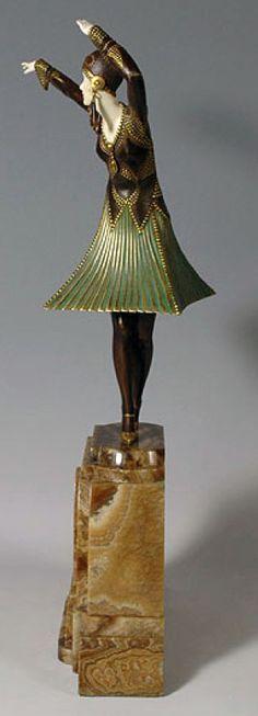 Demetre Chiparus - Art Déco - Sculpture 'Miro'