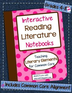 I'm *very* excited to be linking up with Jennifer at 4mulaFun for her Interactive Notebook Linky Party! Aaaand since I'm a double-dippin kinda gal I'm going to show you 5 of my interactive notebooking lessons, making this a great Five for Friday! All of these ideas come from my Interactive Reading Literature Notebooks ~ Teaching …