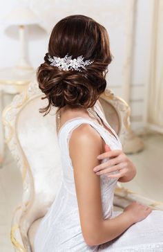 Bridal hair comb Wedding hair comb Bridal by SenceOfBeauty on Etsy
