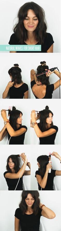 Waves for Short Hair Tutorial