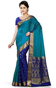 Saree Market: Pure Mysore Silk Saree Blue Colour
