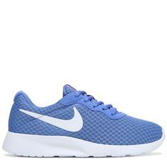 Nike Women's Tanjun Sneakers (Soar/White/Blue)