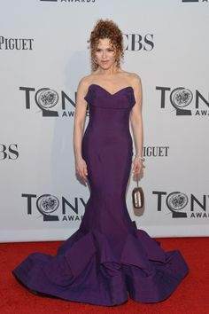 Bernadette Peters, 64 years old when this picture was taken. Absolutely effing amazing. Young women, take note. Put away all of your semi-nude, see-through, heaving-bosom, hitched-up-to-here dresses. THIS is how it's done.