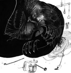 "Ekaterina Dubovik Illustrations for Z.Topelius's fairytale ""How blacksmith Paavo shod a locomotive"""