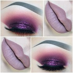 Eyes I used @pinkyrose_4u eyeshadow palette in 35c. Glitter is @shopvioletvoss in Penelope  Lips I used @colouredraine in Sugar  Lashes are @lashesbylena