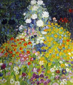 "Flower Garden Gustav Klimt  ""Remember that sometimes not getting what you want is a wonderful stroke of luck.""  ― Dalai Lama XIV"