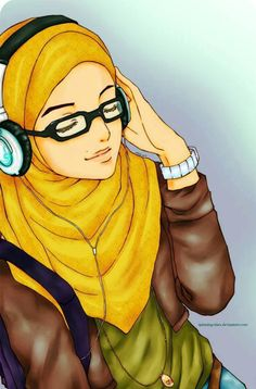 Muslimah Anime, Manga Drawing ❤