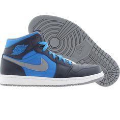 Air Jordan 1 Phat (obsidian / stealth / phosphate blue / white) 364770-405 - $104.99