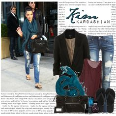 1242. Celeb Style : Kim Kardashian (16.11.2010), created by munarina on Polyvore