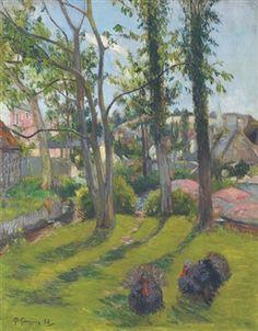 Les dindons, Pont-Aven By Paul Gauguin
