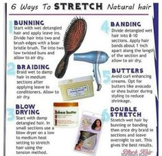 Ways to stretch natural hair