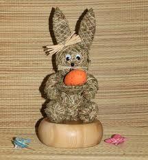 zajíc Topiary, Easter, Design, Hay, Figurines, Crafts, Dekoration, Easter Activities