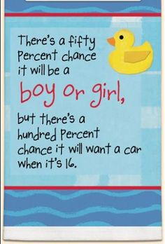 It's a card it's a towel,,, 50% Chance It's a Boy or Girl Darling Towel for Baby Shower Have to See! $10.99