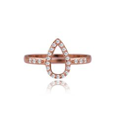 Thea rose gold plated pave ring