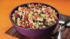 Chopped Greek Salad - my mom made this and it was delicious! Only one can of peas
