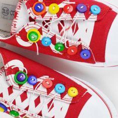ButtonArtMuseum.com - Button Embellished Sneakers
