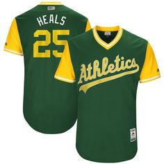 """Ryon Healy """"Heals"""" Oakland Athletics Majestic 2017 Players Weekend Authentic Jersey - Green"""