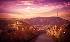 Tbilisi, looking down the river. by John Wright on 500px