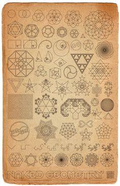 "thatveiledgazelle:  ""Old World Sketchbook"" ∆ Naked Geometry ∆ prints here"