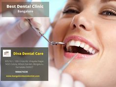 Get A Free Estimate, Book an Appointment at Diva Dental Clinic in Bangalore with one of the best dentists to get the painless dental treatment. #bestdentalclinic Bangalore Best Dentist, Dentist In, Bangalore City, Dental Care, Appointments, Clinic, Diva, Good Things, Book