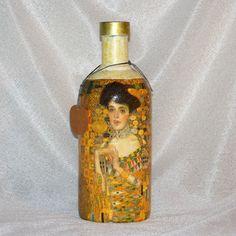 Darčeková fľaša Klimt zlatý