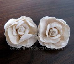 "One Pair Ivory Rose Wedding Bridal Hair Flower Clip, Rose Diameter approx. 2"", Great for Wedding, Party, Performac...,"