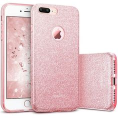 iPhone 7 Plus Case, ESR Luxury Glitter Sparkle Bling Designer Case... ($2.99) ❤ liked on Polyvore featuring accessories and tech accessories #iphone7plus,