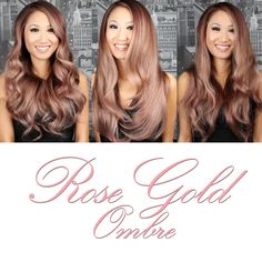 Rose Gold Ombre! This ombre color job is gorgeous! Stylist Guy Tang.