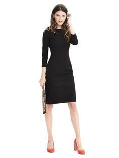 Banana republic- bi front stretch dress in black