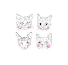 Cat illustration.