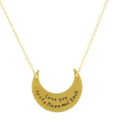 Love You to the Moon & Back Pendant Necklace