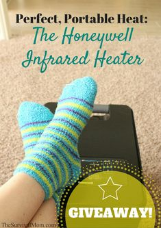 Perfect, Portable Heat: The Honeywell Infrared Heater -- GIVEAWAY ends 2/23.