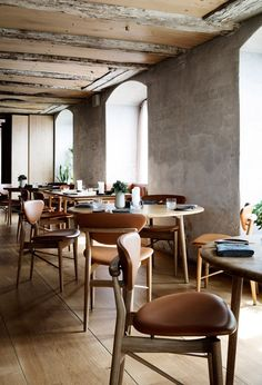 Nordic Restaurant Barr Interior by Snohetta Copenhagen Design.