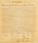 Declaration of Independence written by:    Thomas Jefferson (main writer)  John Adams  Benjamin Franklin  Roger Sherman  Livingston  It was a committee of five.    Read more: http://wiki.answers.com/Q/Who_were_the_writers_of_the_Declaration_of_Independence#ixzz1nXg6IbHM