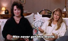 'Men never get this movie' ~ 'I know!' Sleepless in Seattle - Movie Quotes #romcoms #moviequotes #sleeplessinseattle