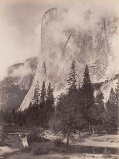 GEORGE FISKE  1835 - 1918 El Capitan during a Storm. ca. 1880s