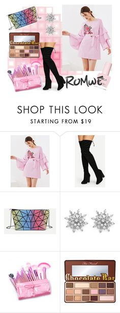 """Romwe 2/3"" by lugavicjasmina ❤ liked on Polyvore featuring Too Faced Cosmetics and ncLA"