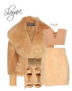 """Grizzly"" by slaynia ❤ liked on Polyvore featuring Balmain, Shoe Cult, Erickson Beamon, Dolli and Jose & Maria Barrera"