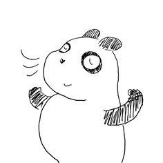【一日一大熊猫】2016.11.9 語呂合わせの、いい空気で換気の日。 最近引っ越した住居は24時間換気らしく 換気扇が止まらないよ。 #パンダ #換気