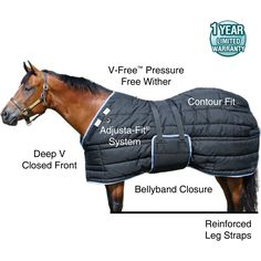 Tekno-Quilt Bellyband Extra Heavyweight Stable Blanket in Extra Heavyweight / Heavyweight