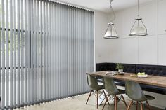 Vertical Blinds are great for large windows and give you complete control over lighting and privacy.