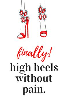 3aee1ef8ab8e44 Love high heels  But not the pain  Try our weight-shifting insoles.