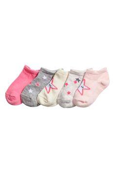 5 paria varrettomia sukkia - Vaaleanroosa/Tähdet - Kids | H&M FI 1