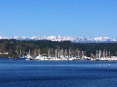 Liberty Bay, Olympic Mountains Poulsbo Washington