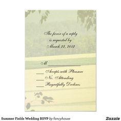 Summer Fields Wedding RSVP 3.5x5 Paper Invitation Card