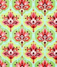ONLINEFABRICSTORE,NET Amy Butler Trumpet Flowers Pink Laminated Cotton