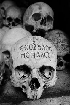 The Monk skull collection in Agion Oros. ◆ original ◆